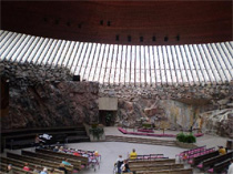 Helsinki. The church Temppeliaukio