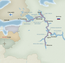 ITINERARY  FOR CRUISE MOSCOW – St.PETERSBURG  12 days/ 11 nights