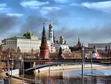 Moscow. Kreml & Moskva river